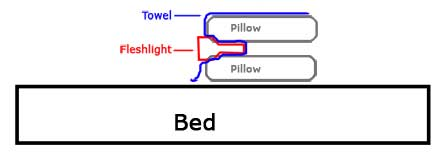 Fleshlight pillow method